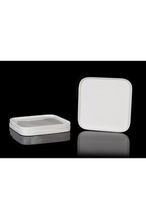 ACAR Bone Porselen 28 Cm 4'lü Kare Servis Tabağı 10341 0