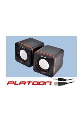 Platoon Pc/laptop Için Mini 1+1 Usb Speaker 1