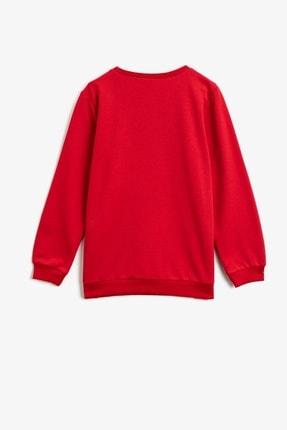 Koton Erkek Çocuk Baskılı Kırmızı Sweatshirt 1kkb16503tk 1