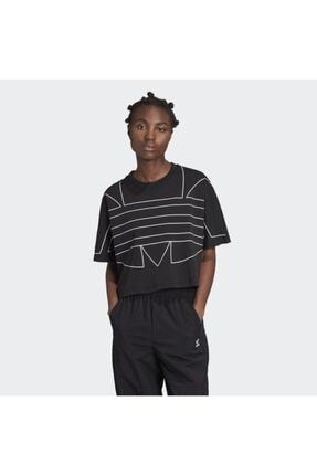 adidas Kadın Siyah Large Logo T-shirt 0