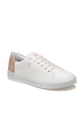 US Polo Assn Nordes 9pr Beyaz Kadın Sneaker Ayakkabı 0
