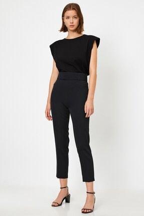 Koton Kadın Yüksek Belli Cigarette Siyah Pantolon 1kak43723ew 0