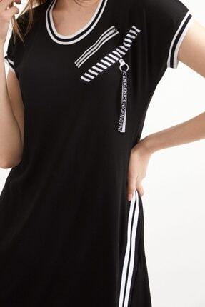 Sementa Kadın Kısa Kol Elbise - Siyah 2