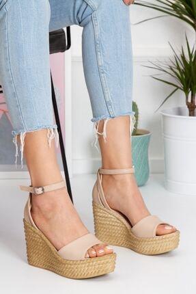 derithy Kadın Ten Vinle Dolgu Topuklu Ayakkabı -ten-lzt0590 4