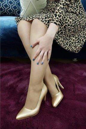 TREND Kadın Altın Topuklu Ayakkabı 1