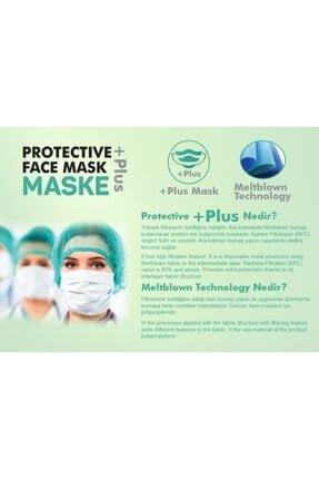 Bosmax 10 Adet Desenli Baskılı Maske, 3katlı, Burun Telli, Meltblown Ara Katmanlı 3