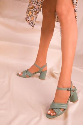 Soho Exclusive Yeşil Kadın Klasik Topuklu Ayakkabı 16098 1