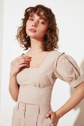 TRENDYOLMİLLA Taş Petite Fermuarlı Bluz TWOSS21BZ1530 2