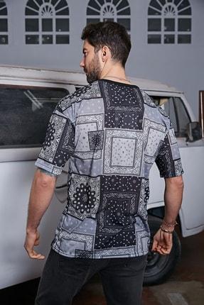 Sateen Men Erkek Siyah Dijital Baskılı T-Shirt 2