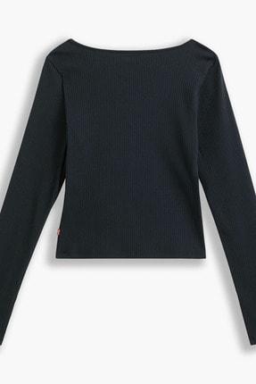 Levi's Brandy Ls Tee Caviar Siyah Kadın Tişört 1