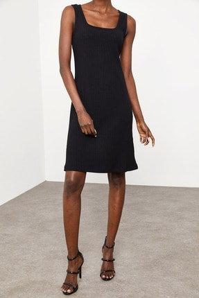 Xena Kadın Siyah Fitilli Elbise 1KZK6-11610-02 0