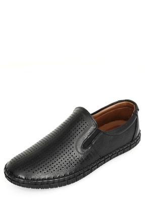 GÖNDERİ(R) Hakiki Deri Siyah Erkek Günlük (Casual) Ayakkabı 01225 2