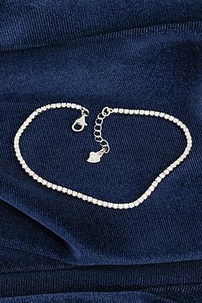 Ventino Silver Beyaz Zirkon Taşlı Su Yolu Kadın Gümüş Bileklik Vkb-6511 2