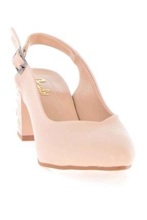 Bambi Bej Kadın Klasik Topuklu Ayakkabı K01688071109 2