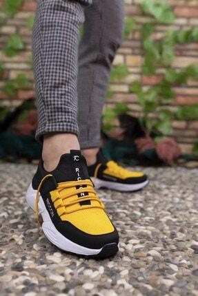Riccon Siyah Sarı Unisex Sneaker 3
