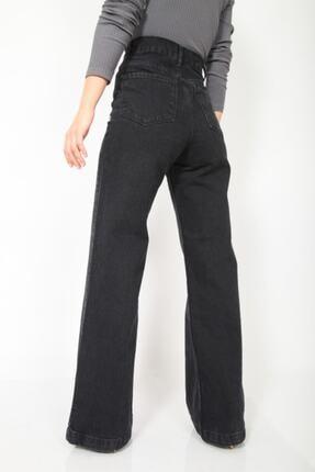 MADAME X Kadın Siyah Bol Paça Ekstra Yüksek Bel Kot Pantolon 1