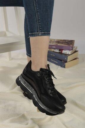 Ayakkabım Elimde Belda Siyah Yüksek Taban Spor Ayakkabı 1