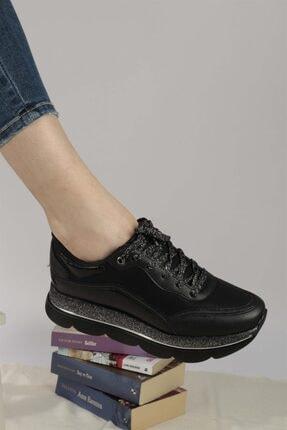 Ayakkabım Elimde Belda Siyah Yüksek Taban Spor Ayakkabı 3