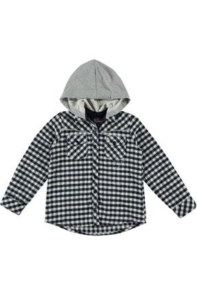 Timo Kız Çocuk Siyah Piti Kareli Kapüşonlu Gömlek 150297620 0