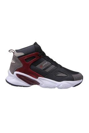 Erkek Bilek Boy Siyah-bordo Basketbol Ayakkabısı - Erkek Ayakkabı 202-1401mr-100 resmi