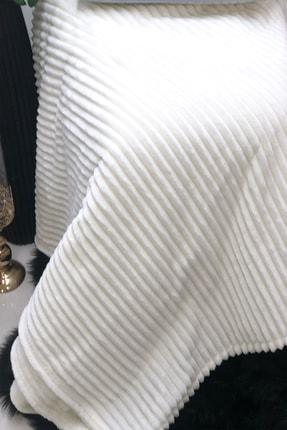 Özdilek Çift Kişilik Smooth Fitilli Beyaz Battaniye 2
