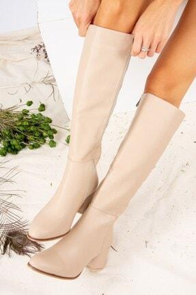 Fox Shoes Ten Suni Deri Kadın Çizme J848300109 0