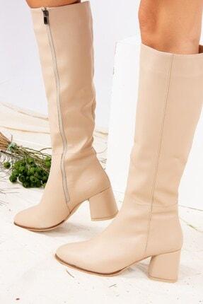 Fox Shoes Ten Suni Deri Kadın Çizme J848300109 1