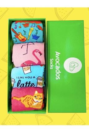 Avocadossocks 4 Lü Karışık Çorap Kutusu 0
