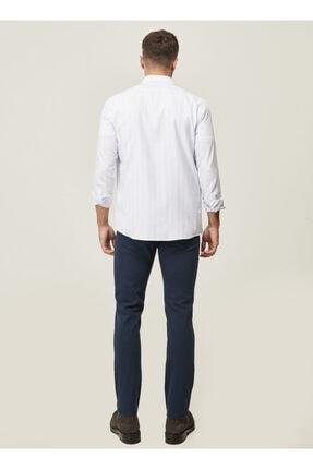Altınyıldız Classics Erkek Lacivert 360 Derece Her Yöne Esneyen Rahat Slim Fit Pantolon 4