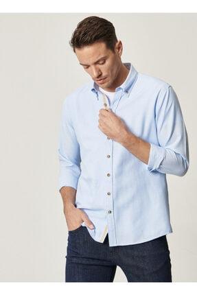 Altınyıldız Classics Tailored Slim Fit Dar Kesim Düğmeli Yaka Oxford Gömlek 0