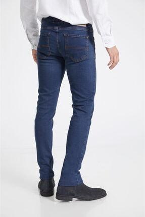 Avva Erkek Lacivert Slim Fit Jean Pantolon A02y3529 4