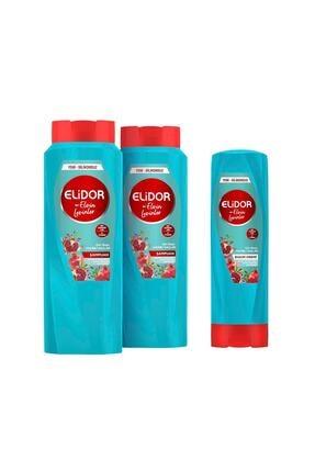 Elidor Gün Boyu Hacimli Saçlar Bakım Şampuanı 650 ml X2 + Saç Bakım Kremi 350 ml By Elvin Levinler 0