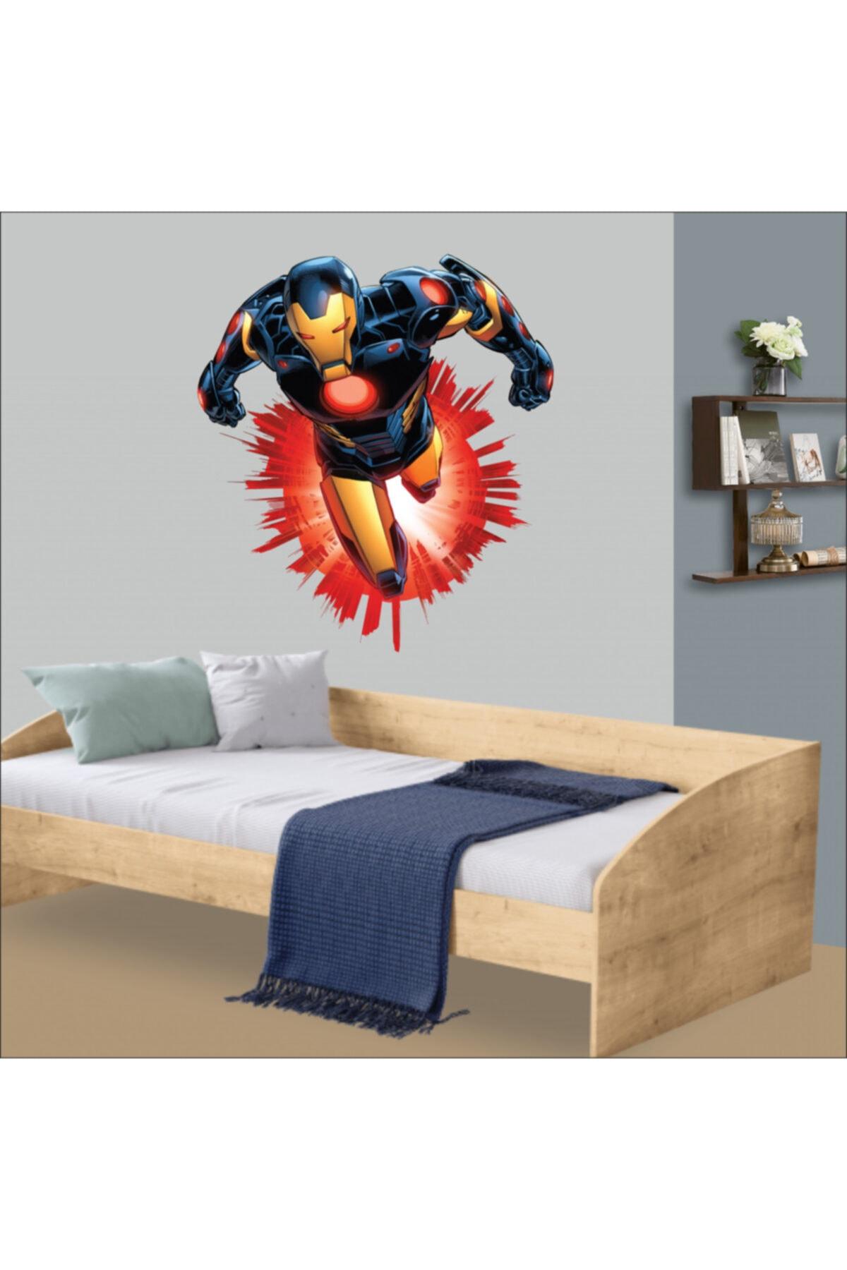 Iron Man Bebek Çocuk Odası Duvar Dekorasyonu Etiket Sticker
