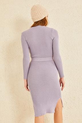 oshebu Fitilli Kuşaklı Triko Elbise 3