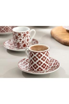 English Home Bordo Mira Porselen Kahve Fincan Takımı 80 ml 2