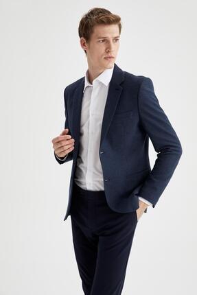 Erkek Lacivert Slim Fit Blazer Ceket resmi