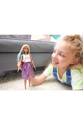 Barbie Fashionistas Bebek ve Aksesuarları Çizgili Renkli Etekli FXL53-FBR37 1