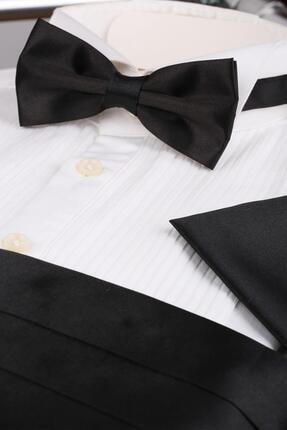 La Pescara Siyah Papyon Kuşak - Damatlık Smokin Kemeri Smk50 1