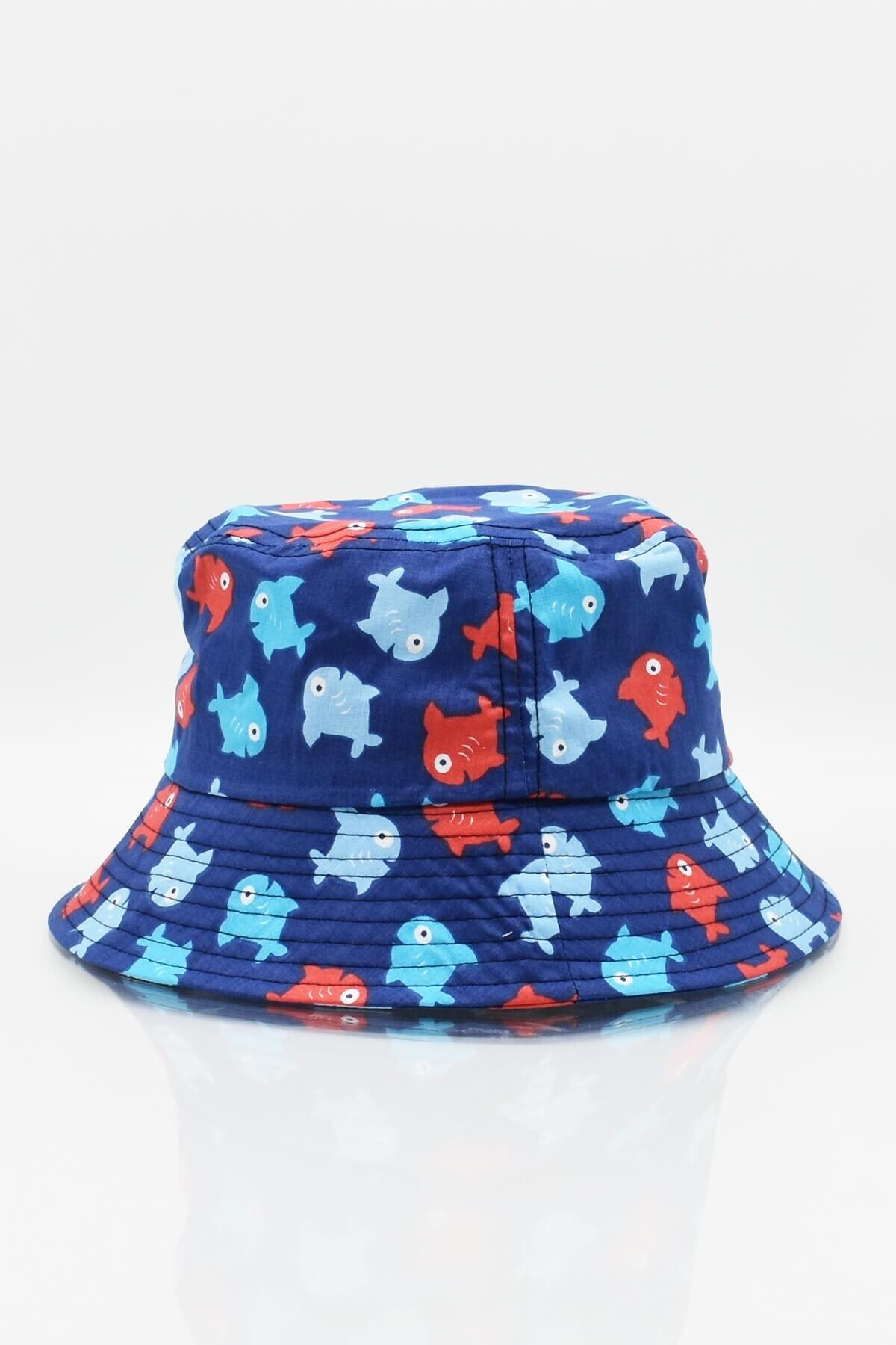 Külah Kadın Desenli Uv Korumalı Seyehat Balıkçı Şapkası Bucket Şapka