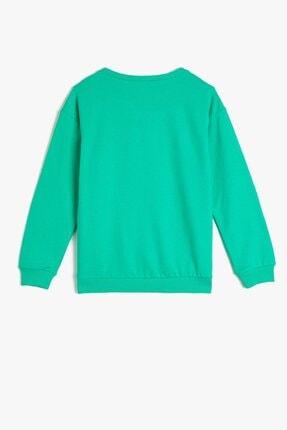Koton Kız Çocuk Baskılı Fıstık Yeşilli Sweathirt 1kkg17319ok 2