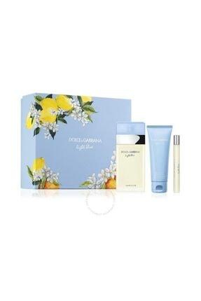 Dolce Gabbana Light Blue Edt 100 Ml + Body Cream 75 Ml + Travel Spray 10 Ml 0