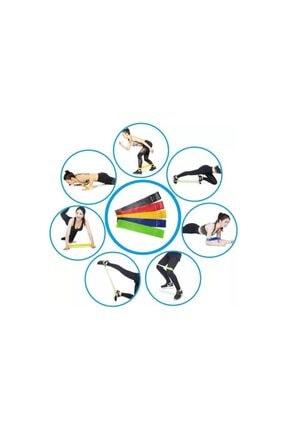Leyaton 3'lü Aerobik Bandı Latex Bant Set Pilates Yoga Lastiği 1
