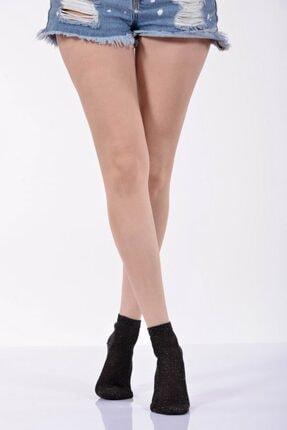 Idilfashion Simli Kadın Patik Çorabı - Siyah B-art057 LTB057020112
