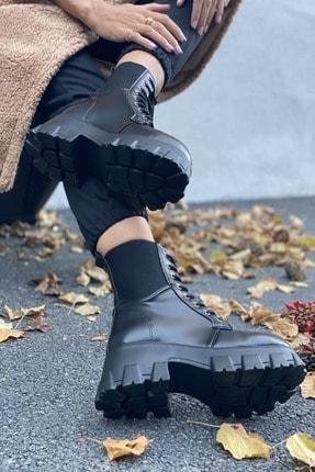 İnan Ayakkabı BAYAN SİYAH BOT&BOOTİE&POSTAL KY8888 3