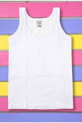 0124 Erkek Çocuk Beyaz 6'lı Paket %100 Pamuk Atlet resmi