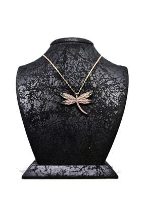 Yusufcuk Gümüş Kadın Kolyesi Rose Gümüş Altın Kaplama Kolye GKKH04142