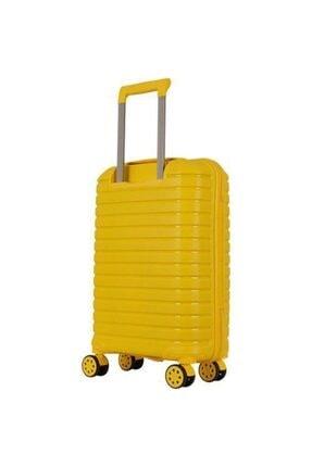 GROUND Polipropilen Kabin Boy Kırılmaz Valiz Sarı 2