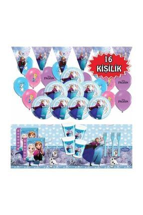 Parti Furyası Frozen Karlar Ülkesi Elsa Doğum Günü Parti Malzemeleri Seti 16 Kişilik 0