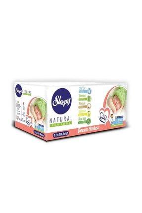 Sleepy Islak Havlu Fırsat Paketi 12 Pk Yenidoğan+ 12 Pk Devam Havlusu +12 Pk Doğal Organik Pamuklu 2