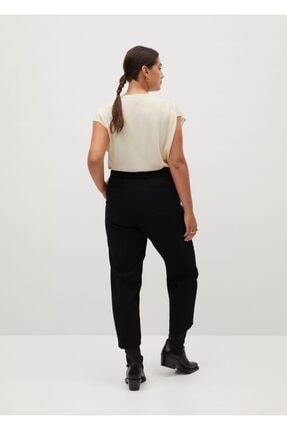 Mango Kadın Siyah Kısa Paçalı Dar Kesim Pantolon 1